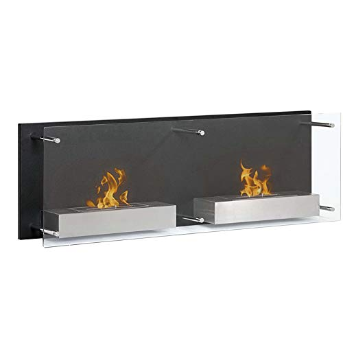 Lowest Price! Regal Flame Mora 47 Inch Ventless Wall Mounted Bio Ethanol Fireplace