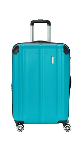 """Travelite Leicht, flexibel, sicher: """"City""""-Hartschalenkoffer für Urlaub und Business (auch mit Vortasche) Koffer, 68 cm, 78 Liter, Petrol"""