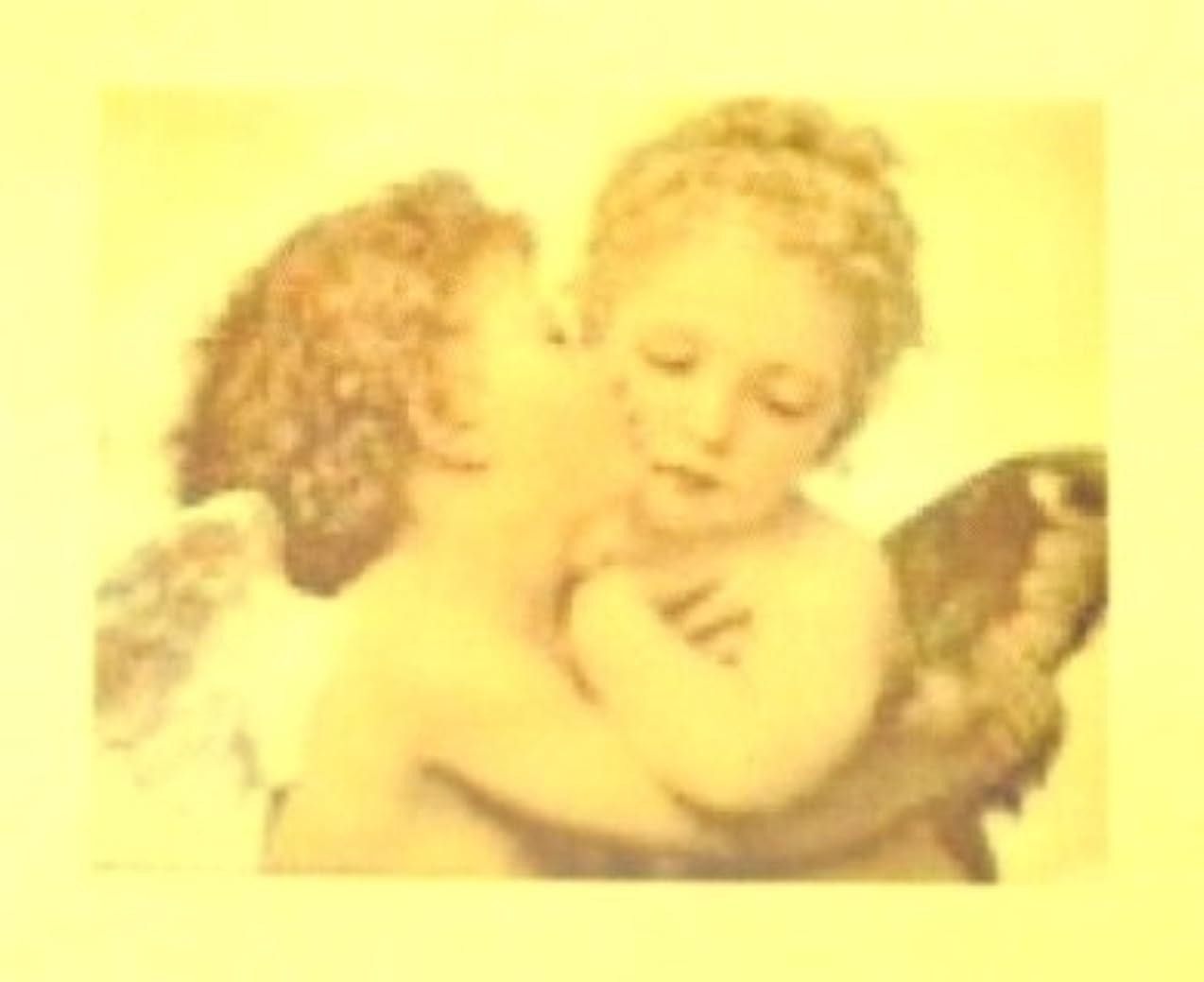 後方に関連する機械的にエンジェル?絵画【ロココ ネイルアートシール】天使(1)/1シート1枚(半透明)