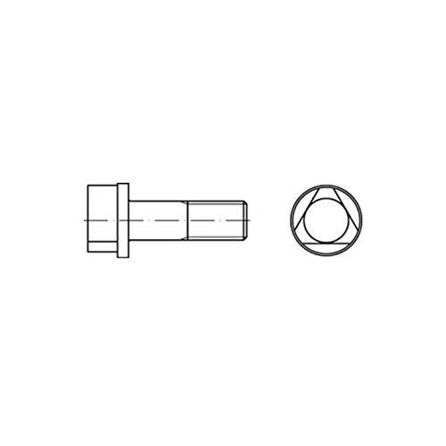 100x DIN 22424 Form A Dreikantschraube M8x30 Stahl 8.8 blank Dreikant