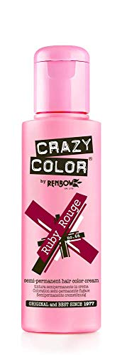 Crazy Color Renbow Semi-Permanent Hair Colour Cream Dye 100ml-Ruby Rouge