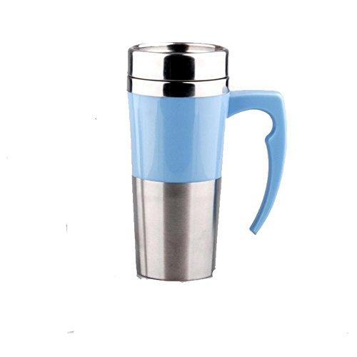 Ruirui-Tasse Thermos en Acier Inoxydable, Tasse de Voyage Thermos, Tasse électrique de Voiture, Blue