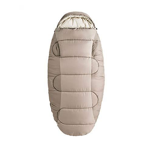 FSSQYLLX Saco de Dormir para Acampar Saco de Dormir para Acampar Estirado Saco de Dormir de algodón cálido con Capucha