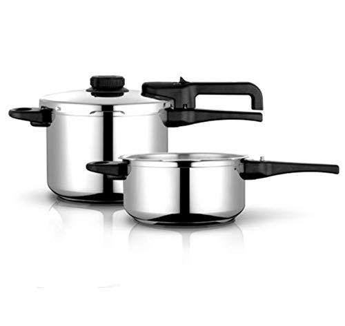 Olla a presión FAGOR DUAL XPRESS. Olla express acero Inoxidable y aluminio, apta para todas las cocinas gas, vitroceramica, INDUCCIÓN y lavavajillas. Fondo Termodifusor (4L + 6L)