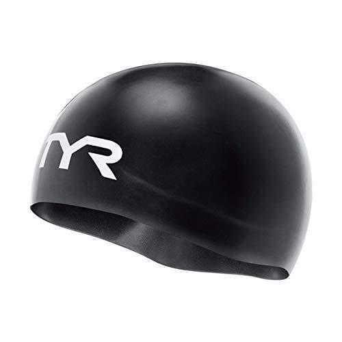 TYR Gorra de competición Unisex con aprobación Fina, Color Negro, única