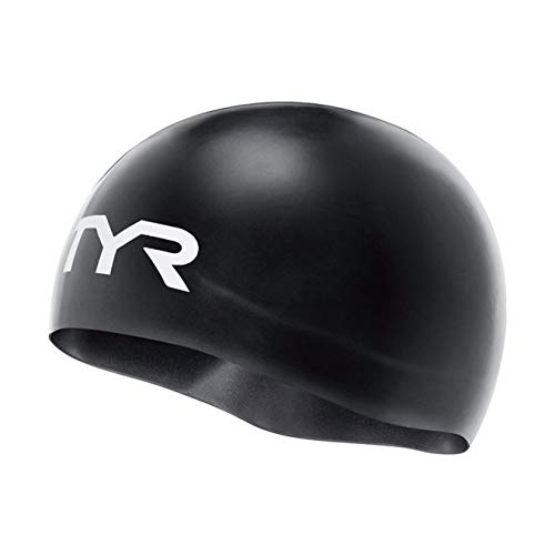 TYR Competitor Racing cap, Cuffia da Gara per Nuoto-Approvata FINA Unisex-Adult, Nero, Unica