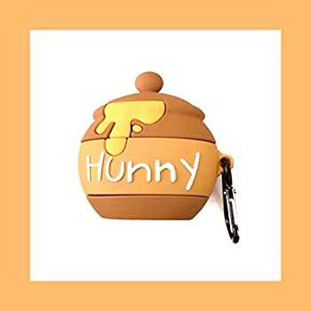 Cute AirPod Pro Case Cover for Apple AirPods 3 Winnie The Pooh Bear Hunny Honey Bee with Clip Keychain Soft Silicone 3D Cartoon Walt Disney Disneyland Cute Lovely Chic Adorable Kids Girls Daughter