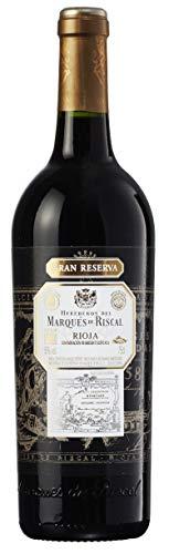 Marqués de Riscal - Vino tinto Gran Reserva Denominación de Origen Calificada Rioja, Variedad 100% Tempranillo, 32 meses en barrica de roble francés - Botella individual 750 ml
