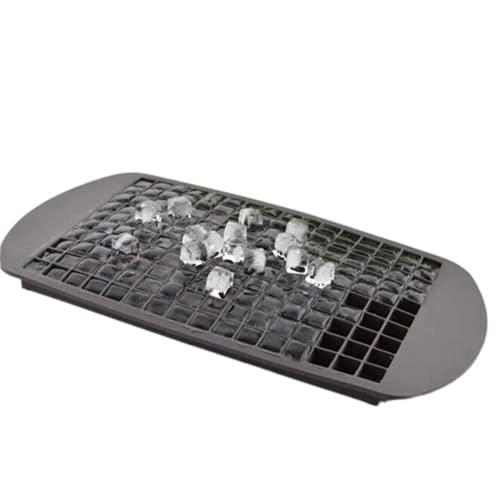 160 rejilla pequeña cuadrada de grado alimenticio de silicona Azulejo de hielo rejilla de hielo triturado hielo cubo molde suministros de cocina (gris)