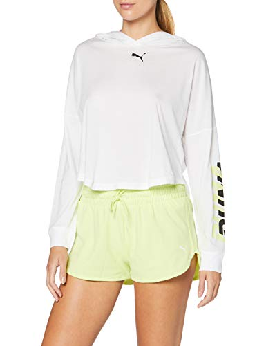 Puma Modern Sports Cover Up T-Shirt Femme, White-Sunny Lime, S