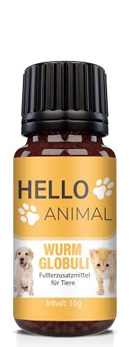 NEU: HelloAnimal Wurm Globuli für Tiere wie Katzen, Hunde, Kaninchen und Geflügel - Kur vor, während und nach Befall, natürliches Mittel für Magen und Darm bei WURMBEFALL