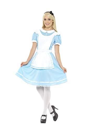 Smiffys, Damen Wunder Prinzessinnen Kostüm, Kleid, Schürze und Haarband, Größe: 36-38, 41012