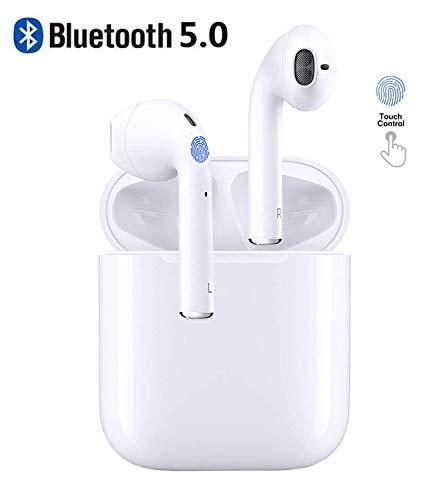 SAUIHUF Auricolari wireless Bluetooth 5.0 Cuffie Cuffie Bluetooth 3D Stereo IPX5 Impermeabile Cuffie...