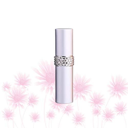 Mobestech Glazen Spuitflessen Reizen Diamant Inleg Lege Verstuiver Pomp Fles Monster Subverpakking Spuitbuis Voor Lotion Parfums Etherische Oliën Vloeistoffen Zeep 8Ml (Zilver)