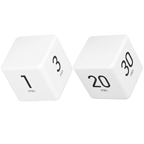 Cube Timer, 2.6x2.6x2.6in Digital Timer Adjustable Sound Volume Rounded Corner Kitchen Preset Timer with Electronic Display for Time Management Countdown(1-3-5-10min)