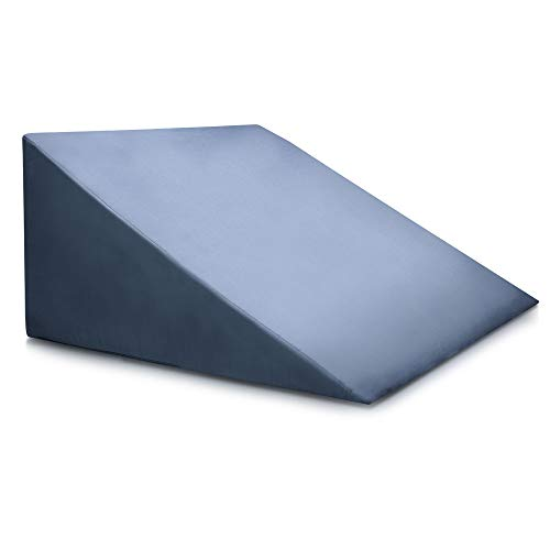 Bed Wedge Pillow - Clinical Grade Incline Bed Rest For Sitting Up - Sleep Back Support, Pregnancy, After Surgery Recovery - Uni sex Blue