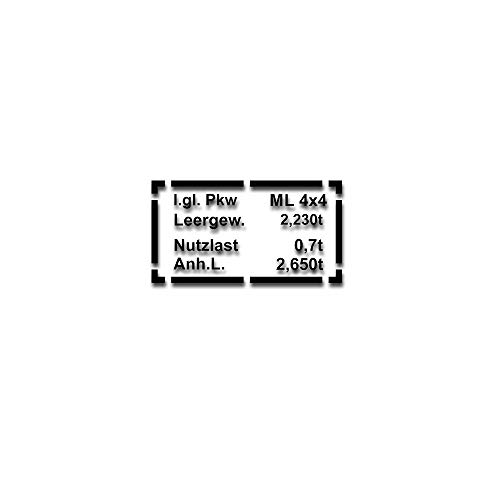 Aufkleber Typenschild Passend für Mercedes Benz W163 Stiker 20x10cm #A4839