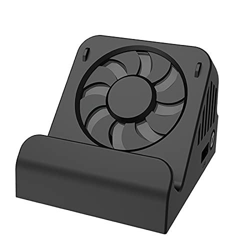 IPOTCH Adaptador convertidor de Video HDMI Base de Carga + Ventilador de enfriamiento para Nintend Switch Que Puede Jugar Mientras Carga