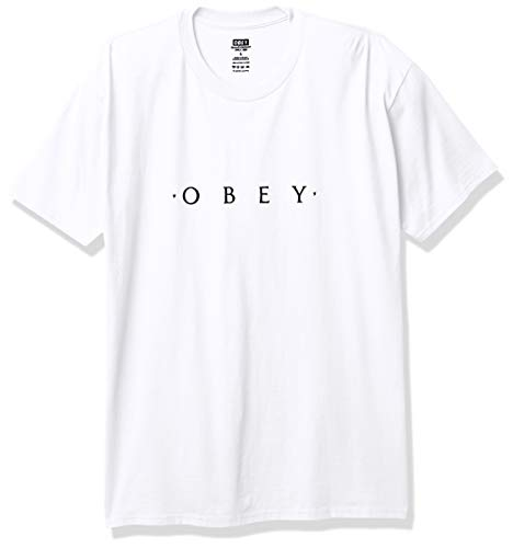 OBEY Novel Classic - Camiseta para hombre, talla M/C, color blanco, 165261578-WHT-L,...