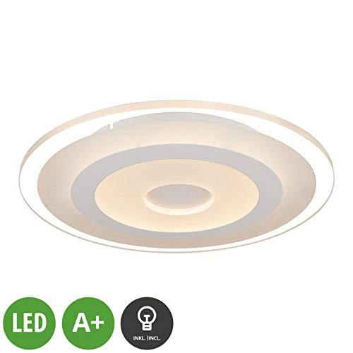 Lampenwelt LED Deckenleuchte 'Fenris' (Modern) in Weiß u.a. für Flur & Treppenhaus (A+, inkl. Leuchtmittel) - Lampe, LED-Deckenlampe, Deckenlampe, Flurleuchte