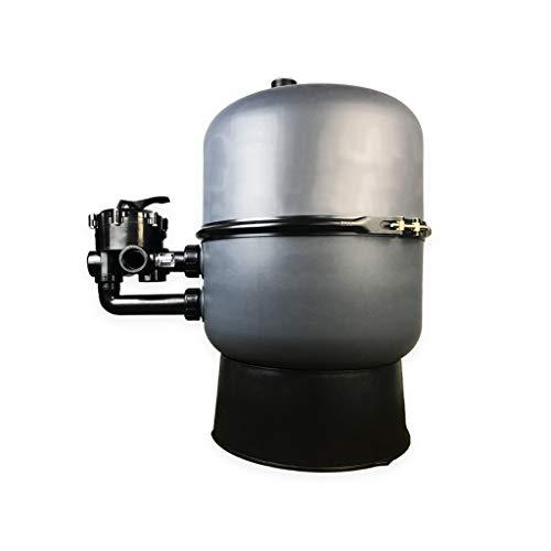 well2wellness® Pool Sandfilterbehälter Sandy.Stream 500-2-geteilter Filterkessel mit 6-Wege-Ventil