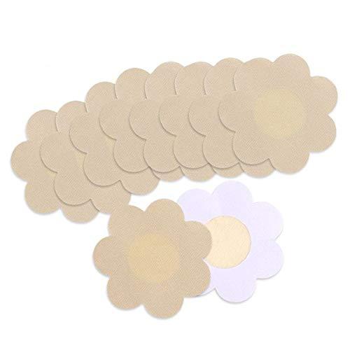 KQueenStar Nipple Cover - Einweg Wasserdichte Unsichtbare Satin Nippelabdeckung Einweg Brust Aufkleber Nippel Cover Nippelpads, M, Farbe
