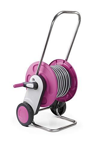 GF Garden, Concept Plus, Schlauchwagen aus Kunststoff und Metall, 20 Meter Schlauch Ø 1/2 Zoll Bewässerungspistole und Steckanschluss enthalten, Farbe Pink
