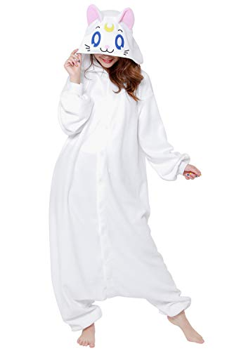 SAZAC Kigurumi - Sailor Moon - Artemis - Onesie Halloween Costume - Adult One Size Fits All