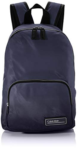 Calvin Klein - Primary Round Backpack, Mochilas Hombre, Azul (Blackwhite Navy), 1x1x1 cm (W x H L)