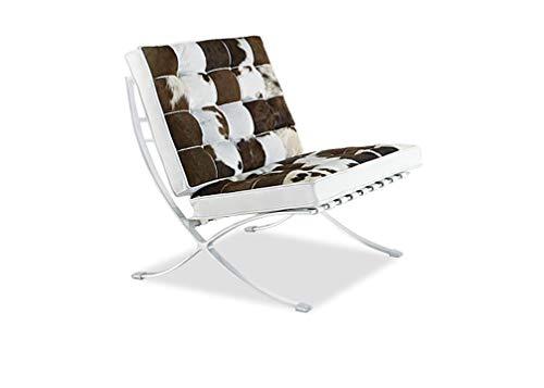 MLF Premium Version Barcelona Stuhl, Pony Leder, Schaumstoff Kissen und die Nahtlose sichtbar Ecken