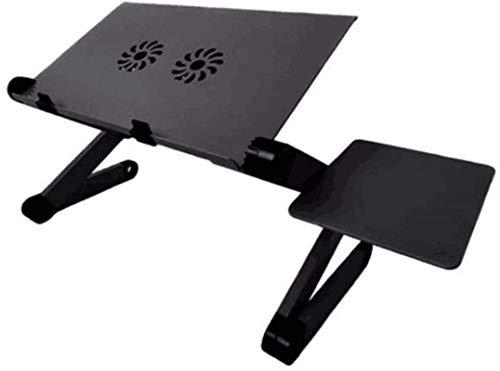 Mesa para portátil, Mesa Plegable para Ordenador, Mesa con Bandeja para portátil, con Alfombrilla para ratón con diseño de refrigeración, Mesa Plegable de Aluminio Perezoso