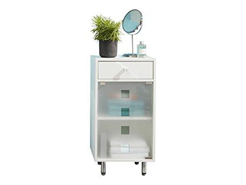 trendteam badkamerkast dressoir Denver, 39 x 76 x 30 cm in wit melamine met veel opbergruimte