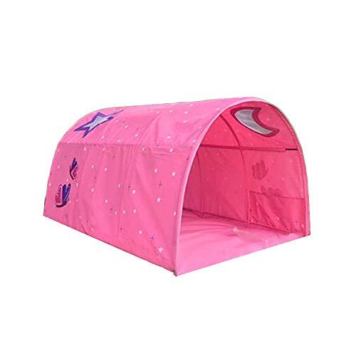 Cozyhoma Kinder Spielbett Zelt Kindertunnel für 90-100 cm Breite Hochbett Etagenbett Kinderzelt, rose, 100x140x80cm