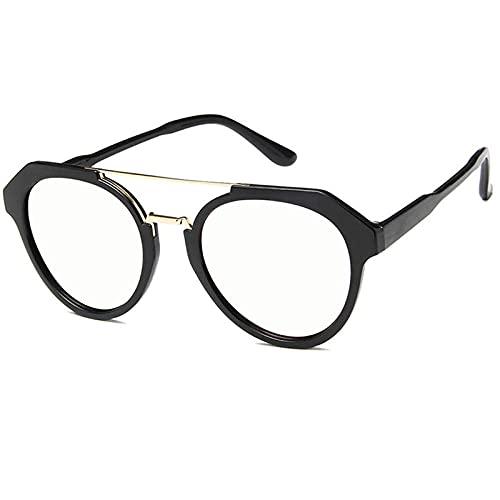 WQZYY&ASDCD Gafas de Sol Gafas De Sol Redondas De Gran Tamaño A La Moda para Mujer, Gafas De Sol con Espejo Vintage, Gafas De Sol para Mujer, Uv400-Blanco