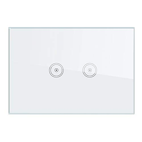 Smart switch Pannello a 2 vie (ZigBee), Interruttore Timer intelligente, Telecomando, Può essere utilizzato con Alexa Echo e Google Assistant (Deve essere utilizzato con Tuya Gateway).