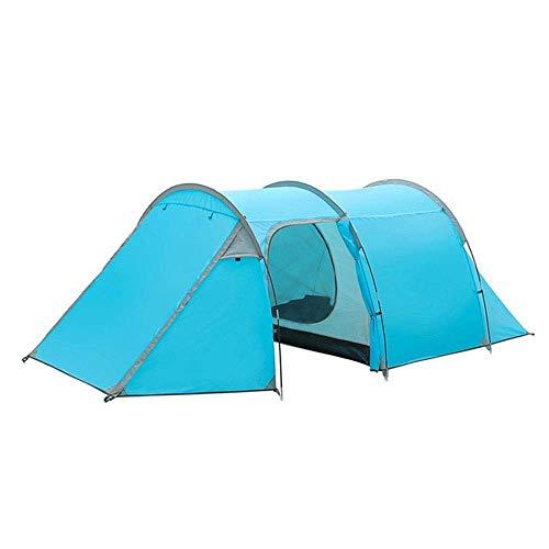 LKOER Equipo de Camping Suministros al Aire Libre 3-4 Personas Viven en una casa y una Tienda de túnel para Camping Tienda de Juegos al Aire Libre (Color: Azul, Tamaño: 425x200x130cm) jinyang