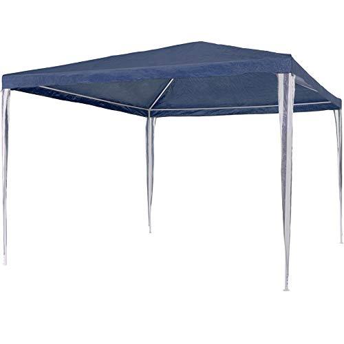 TecTake Tonelle Tente Gazebo Pavillon de Jardin d événement 3 x 3 m, Bleu