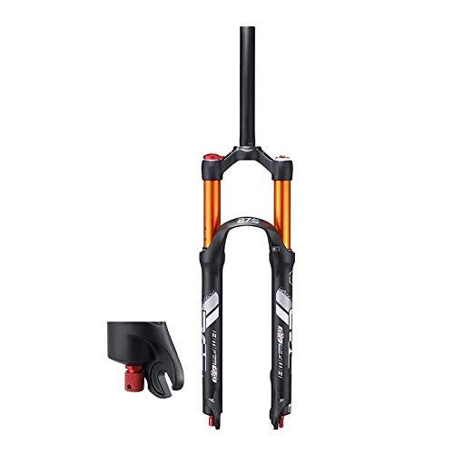 YQQQQ Horquilla delantera para bicicleta de 26/27.5 pulgadas, ajuste de amortiguación 1-1/8 viajes: suspensión neumática de 120 mm, QR de 9 mm (color: negro-1 bloqueo manual, tamaño: 26 pulgadas)