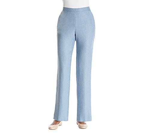 Alfred Dunner Petites' Pull On Stretch Pants (Bluebell, 10P Short)