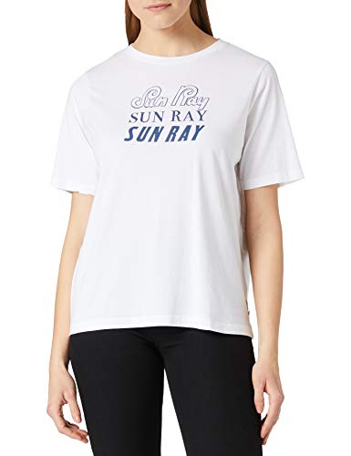 Scotch & Soda T-Shirt mit Grafik aus Bio-Baumwolle Camiseta, 0006 White, S para Mujer