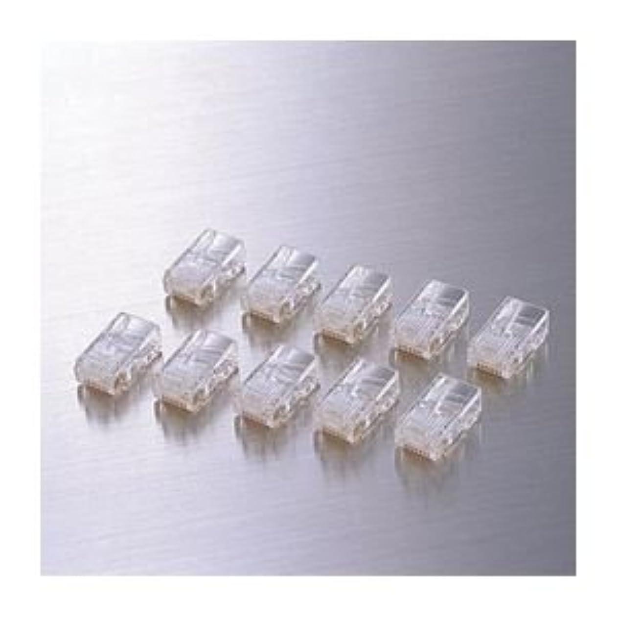 銃組み込む密度(まとめ)エレコム RJ45コネクタ(10個セット) LD-RJ45T10A【×10セット】 ds-1618050