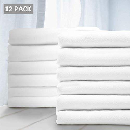 Balichun - Juego de fundas de almohada para cama de matrimonio (12 unidades, 1800 hilos, microfibra cepillada suave, última intervensión de alergias, resistente a las arrugas,...