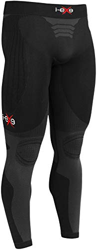 Bermuda de compressão I-EXE feita na Itália, calça para homens e mulheres, Esportivo, Men - Black With Grey - Pants, MEN - Medium
