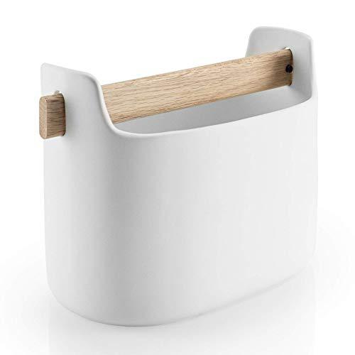 EVA SOLO Utensilienhalter für die Küche, Höhe: 15 cm, Toolbox, 530638, Keramik, Weiß, 23,1 x 17 x 13,2 cm