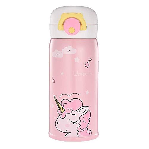Termo de unicornio de acero inoxidable para niñas, bonita