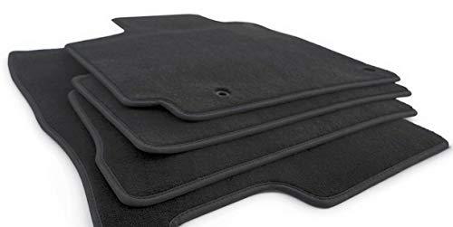 kh Teile Fußmatten passend für Hyundai i20 (ab 2020) Velours Original Qualität Automatten, Schwarz, 4-teilig