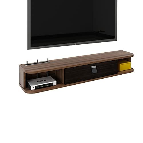 Bxzzj Casillero Soporte TV Pared, Consola Multimedia Montada En La Pared, Consola De Mueble TV Flotante, Partición Flotante para Decodificador/Enrutador WiFi/DVD, Etc. (Color : A, Size : 100CM)