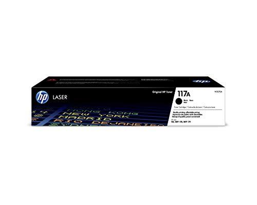 HP 117A W2070A, Negro, Cartucho Tóner Original, de 1.000 páginas, para impresoras HP Color Laser Serie 150, MFP 178 y 179 ✅