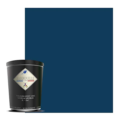 Abyssal - Pintura acrílica de terciopelo – paredes y techos – 1 litro azul – Abyssal