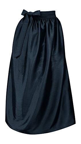 Schürze für Dirndl Trachtenschürze Trachtenkleid Dirndlkleid Dirndlschürze Taftschürze Trachtenmode einfärbig uni Taft grün pink rot rosa blau schwarz Glanz apron, Größe:S/M = 34 36 38, Farbe:marine